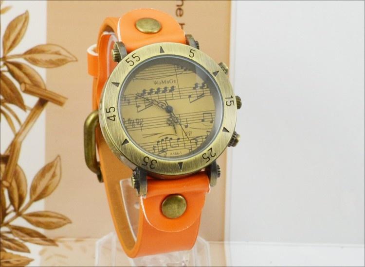 Montre Motifs Musicaux - Orange [Wrist Watch Music Notes - Orange]