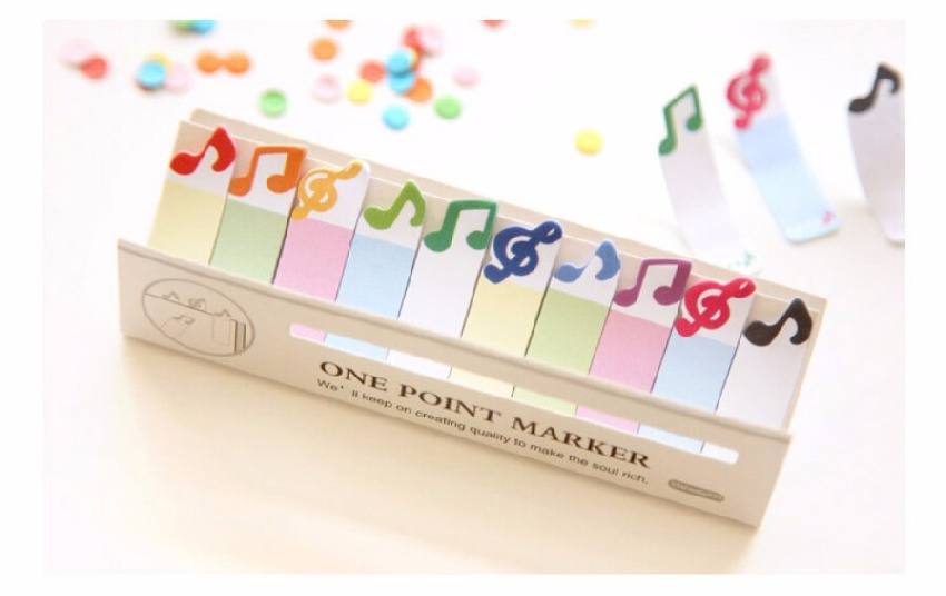 Post it - One Point Marker Notes de Musique [Post it - One Point Marker Musical Notes]
