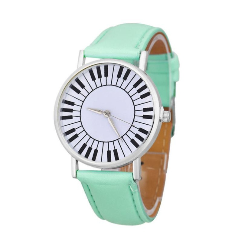 Montre Cadran Touches de Piano - Turquoise [Wrist Watch Piano Keys Turquoise]