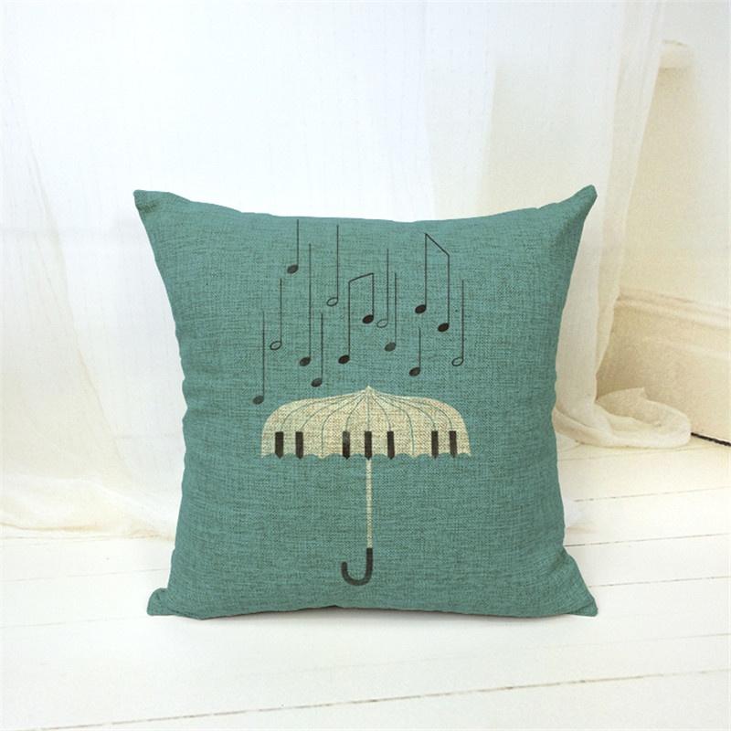 Taie d\'Oreiller / Housse de Coussin Parapluie Musical [Cushion Covers / Pillowcase Musical Umbrella]