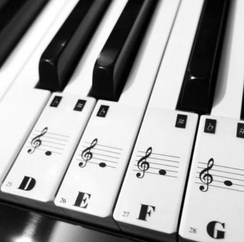 Autocollants Mémo Pour touches de Piano [Piano Keyboard Stickers]