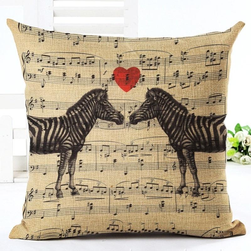 Taie d\'Oreiller / Housse de Coussin Zèbres Amoureux [Pillowcase - Zebras in Love]