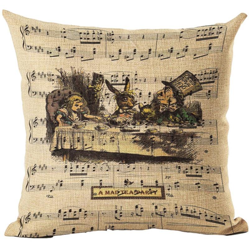 Taie d\'Oreiller / Housse de Coussin Alice aux Pays des Merveilles \'Le Thé\' [Pillowcase - Alice in Wonderland \'Tea Party\']