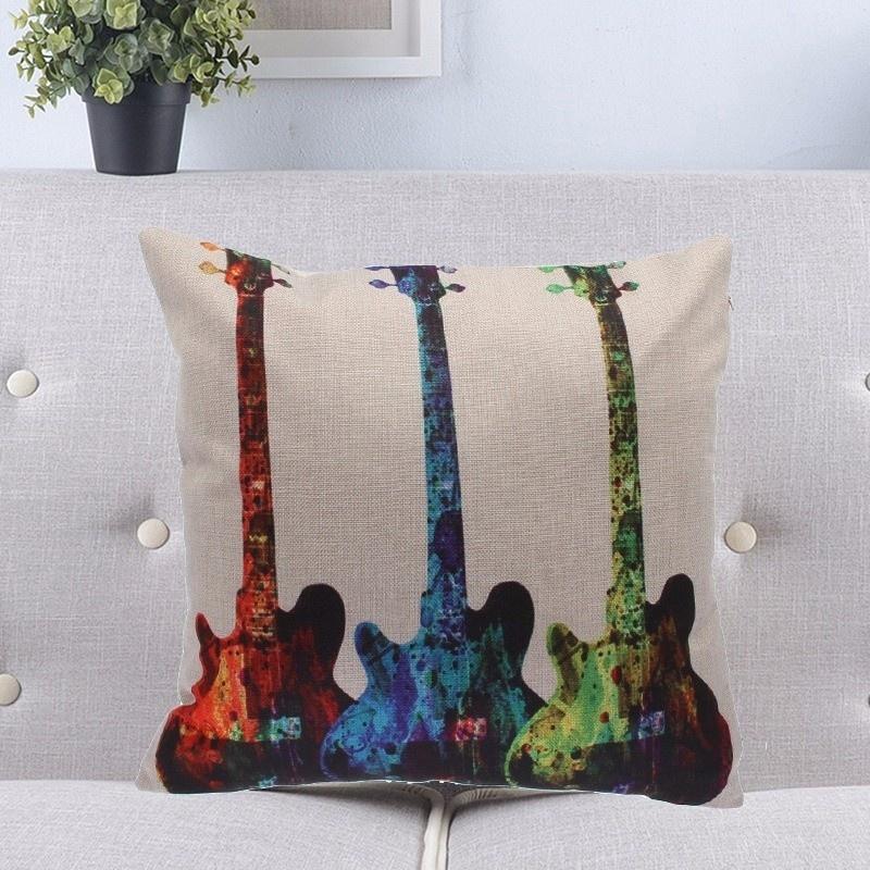 Taie d\'Oreiller / Housse de Coussin Guitare [Cushion Covers / Pillowcase Guitar]