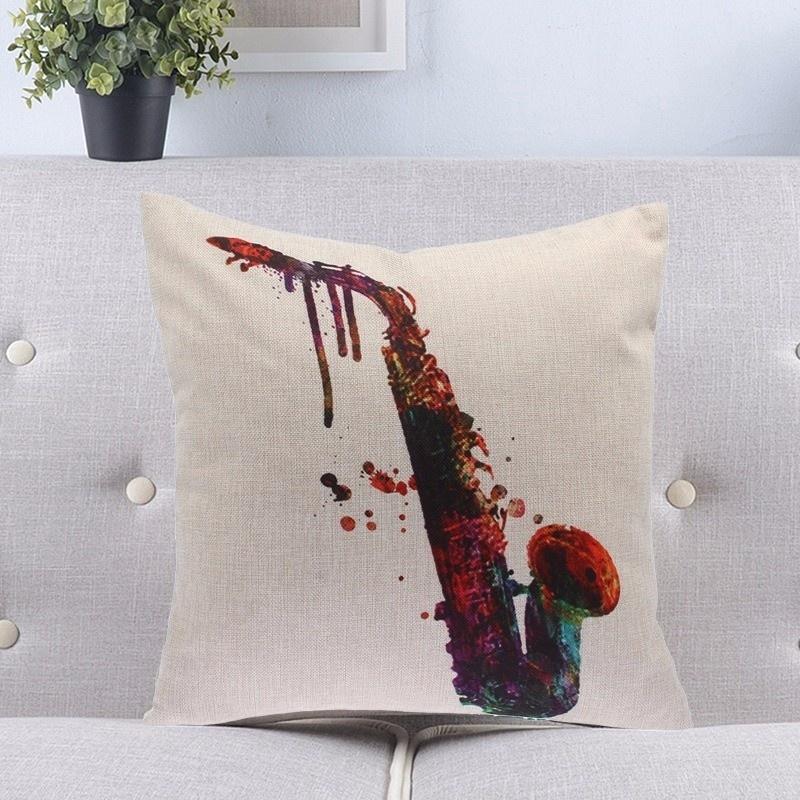 Taie d\'Oreiller / Housse de Coussin Saxophone [Cushion Covers / Pillowcase Saxophone]
