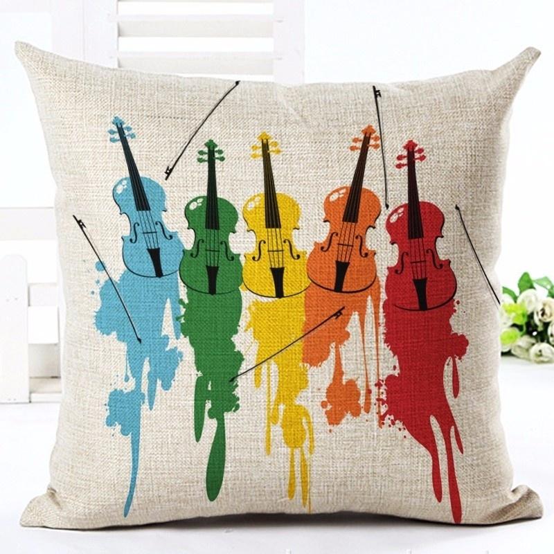 Taie d\'Oreiller / Housse de Coussin 5 Violons [Cushion Covers / Pillowcase 5 Violins]
