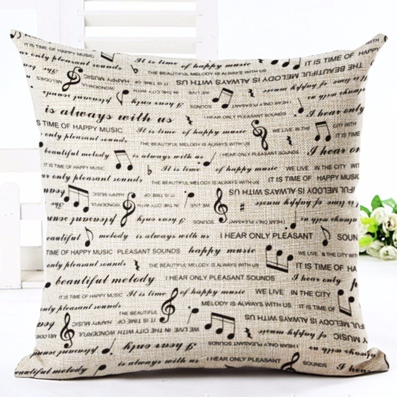 Taie d\'Oreiller / Housse de Coussin Music Words [Pillowcase - Music Words]