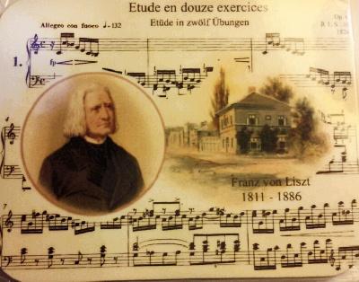 Dessous de verre en liège - Liszt