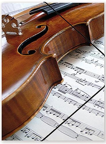 File with elastic band Violin/Sheet music
