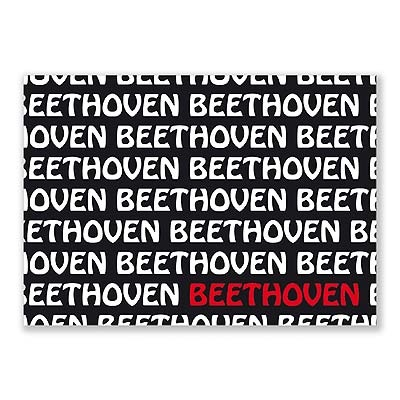 Carte Postale - Graphique Beethoven