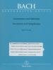 Inventions et Symphonies BWV 772-801 (Inventions à deux et trois voix) (Bach, Johann Sebastian)