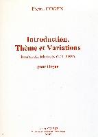 Cogen, Pierre : Introduction, Thème et Variations