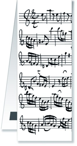 Bookmark Sheet Music White Magnetic