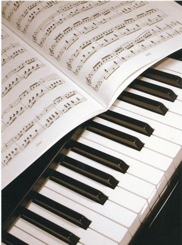 Carte Postale - Piano / Partition