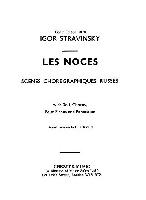 STRAVINSKY LES NOCES MINIATURE SCORE