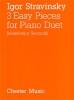 Stravinsky, Igor : Three Easy Pieces for Piano Duet