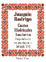 RODRIGO JOAQUIN CUATRO MADRIGALES AMATORIOS HIGH VOICE and P°