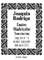 RODRIGO JOAQUIN CUATRO MADRIGALES AMATORIOS MEDIUM VOICE and P°