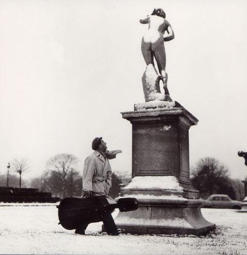Carte Postale d\'Art `Les Tuileries en Hiver, 1958`