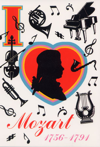 Carte Postale d\'Art `I Love Mozart`
