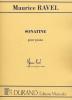 Maurice Ravel : Sonatine pour Piano