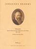 Brahms, Johannes : Chaconne (Aus BWV 1004) d-moll (Ré mineur)