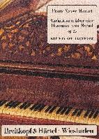 Mozart, Franz Xaver : Variationen uber eine Romanze von Mehul