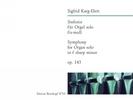 Karg-Elert, Sigfrid : Sinfonie fis-moll op. 143