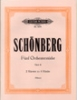 Schoenberg, Arnold : 5 Orchestral Pieces Op.16 For Piano 4 Hand