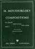 Mussorgsky, Modest : Six morceaux Vol.1