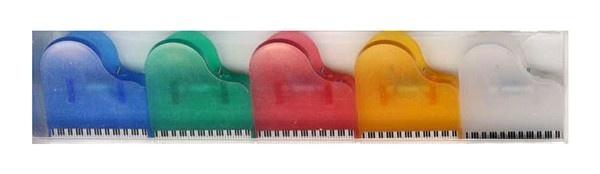 5 Mini Clips Piano - Assortiment de Couleurs