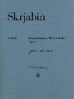 Skrjabin, Alexander : Piano Sonata no. 1 f minor op. 6