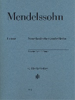 Mendelssohn, Félix : Venetian Gondola Songs for Piano