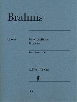 Brahms, Johannes : Piano Pieces op. 76