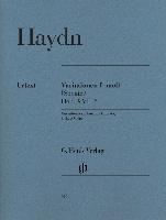 Haydn, Josef : Variations in f minor (sonata) Hob. XVII : 6