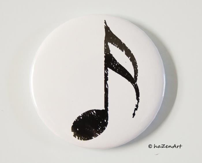 Magnet Double Croche Blanc Grand [Magnet Semiquaver White Big]