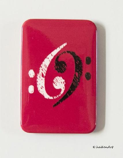 Magnet Cles de Fa Yin et Yang Bordeaux [Magnet F Keys Yin et Yang Bordeaux]