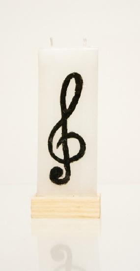 Bougie Plate Clé de Sol [Candle G Key]