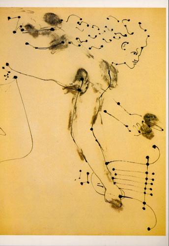 Carte Postale d\'Art `Orphée à la Lyre`