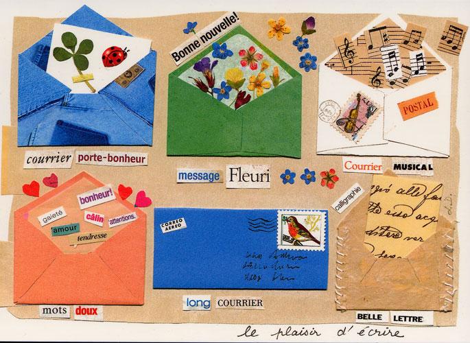 Carte Postale d\'Art `Le Plaisir d\'Ecrire`