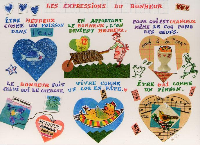 Carte Postale d\'Art `Les Expressions du Bonheur`