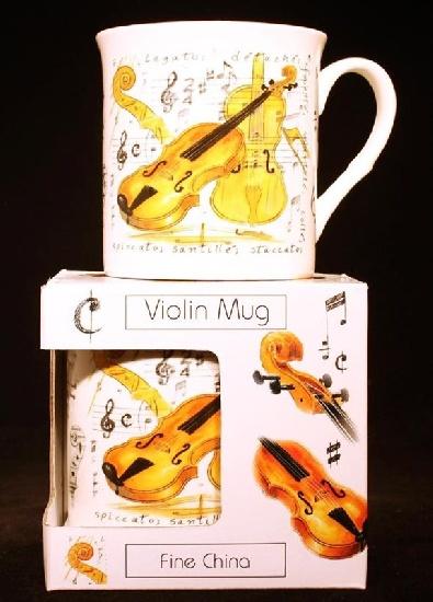 Fine China Mug - Violin Design