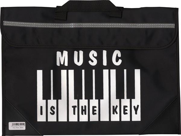 Sacoche De Musique Clavier/Piano - Music Is The Key (Noire)