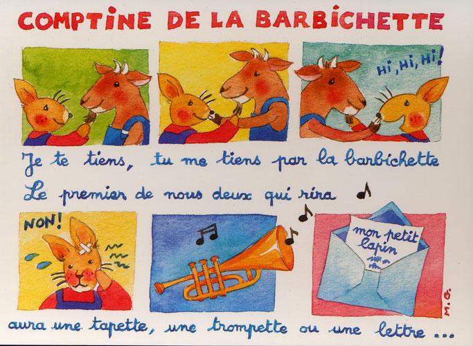 Carte Postale d\'Art `Barbichette`