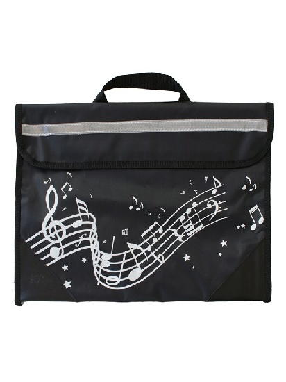 Musicwear : Wavy Stave Music Bag - Black