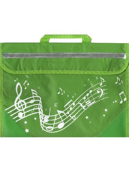 Musicwear : Wavy Stave Music Bag - Green