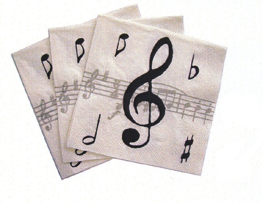Serviette en Papier - Music Notes