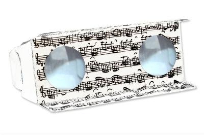 Binocular Sheet Music White