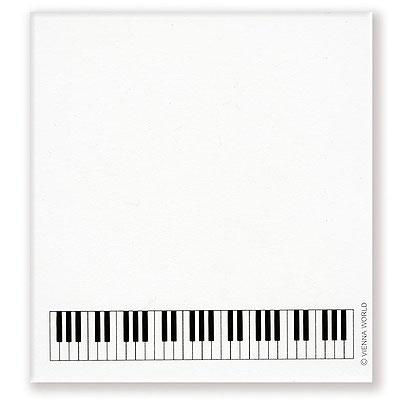 Bloc-Notes Autocollant - Petit Format - Piano