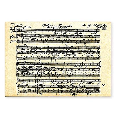 Carte Postale - Partition Schubert